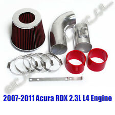 RED 2007-2011 ACURA RDX 2.3 2.3L DOHC TURBOCHARGED AIR INTAKE KIT SYSTEMS