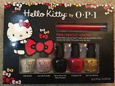 Hello Kitty By OPI 5 Piece Mini Set 0.125oz, Bonus Nail Art Tool
