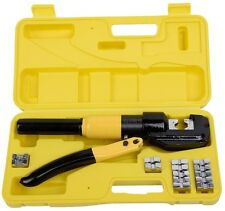 8 Ton Hydraulic Wire Terminal Crimper Battery Cable Lug Crimping Tool w/Dies