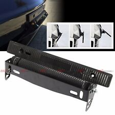 LICENSE PLATE ADJUSTABLE ANGLE TILT FRAME HOLDER RELOCATOR BRACKET CARBON STYLE