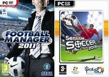 football manager 2011 & sensible soccer   new&sealed