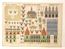 Pellerin Imagerie D'Epinal- 844 M. Construction Hotel de Ville de Vere Hollande