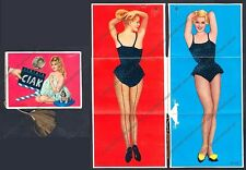 CALENDARIETTO 1963 CIAK - CINEMA MOVIE ATTRICI - BARDOT ecc. SOFFIETTO BUSTINA