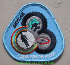 NASA SKYLAB SPACE PROGRAM Embroidered Sew-On PATCH  CARR GIBSON Vintage 1980's