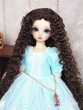"1/6 6-7""  Dal SD BJD MSD YOSD BB Blythe dollfie brown wavy barbie doll wig"