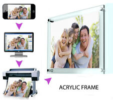 YOUR PHOTO ON TO AN A4 ACRYLIC FRAME CLEAR/TRANSPARENT