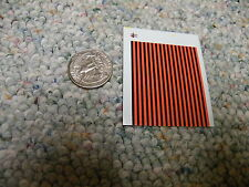 "Herald King decals HO Stripes 4"" wide alternating fire orange / black   XX42"