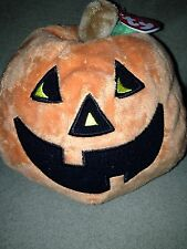 TY Pluffies Gilbert the Pumpkin Beanie Plush Toy Halloween NWT!!
