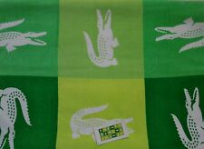 "Lacoste Beach Towel Lime Green & White Crocodile Check 36""x72"" Shower/Pool NWT"