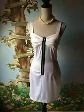 Wishes Wishes White Stretch Front Zipper Junior Dress SZ 7 NWT