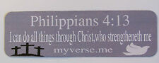 Fridge or tool box magnetic Bible verse, I can do all things through Christ,who