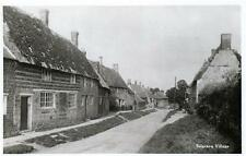 Sulgrave Village Nr Brackley Banbury sepia unused RP old postcard