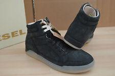 Authentic Diesel BASKET DIAMOND Black Nubuck Suede Mens Shoes Sneakers NIB Sz 11