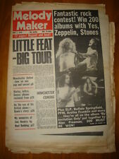 MELODY MAKER 1976 MAY 1 LITTLE FEAT ZEPPELIN STONES ELP