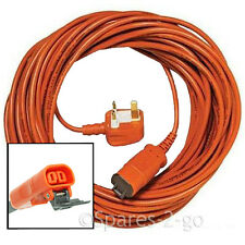 FLYMO 15 Metre Mains POWER CABLE FLEX LEAD With PLUG 15m Lawnmower Grass Trimmer