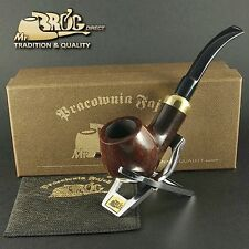 "OUTSTANDING Mr.Brog original smoking pipe nr.124 BROWN smooth  ""BENT ARMY"" briar"