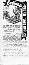 1935 small Print Ad of Eclipse Hand Lawn Mower