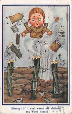 POSTCARD   COMIC   WWI   CHILDREN    Blimey  !  If I ain't come off...