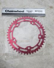 TAKAGI 45 SPROCKET RED 130 BCD BMX FREESTYLE CRUISER CHAINWHEEL SHIMANO