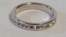 New Women's Jewelry 18kt White Gold Plated Cubic Zirconia Band Ring Size 7