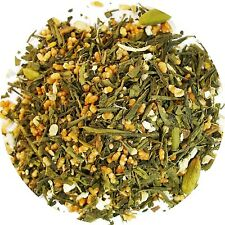 Masala chai Genmaicha  Green Tea  With Brown Rice  Tea Loose Leaf Tea  1/4  LB