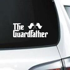 B242 The Guard Father marching band flag twirler   vinyl decal for car truck