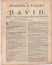 1743 KJV Large Quart Bible Leaves (Printer - Robert Barker)-YOU CHOOSE THE LEAF