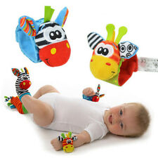 A Pair Baby Kids Chlid Infant Soft Toy Wrist Rattles Finders Developmental Hot
