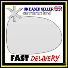 Right Driver Wing Car Mirror Glass Replacement CONVEX Honda Jazz 2001-2005