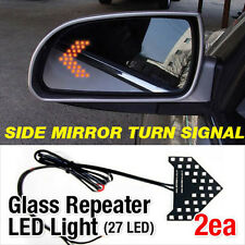 Side Mirror Turn Signal Glass Repeater LED Light For Hyundai Veloster / Turbo