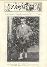 1901 Splendid Photograph Of The King Very Fit In Scotland