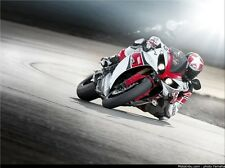 "Yamaha R1 Speed Motorcycle Fabric poster 32"" x 24"" Decor 03"