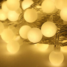 Fairy String Frosted Ball Light Xmas Party Decor Warm White Battery 3M 20Led