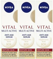 3 x 50ml Nivea Vital Multi Active Anti-Age Serum For Mature Skin Age 55+