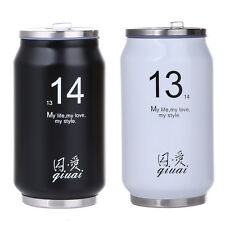 300ml Cans Thermos Mug Simple Drinking Cup Stainless Steel Sports Bottle