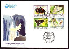 Färöer 1993 FDC Mi.252/55 Tiere Animals   Schmetterlinge Butterflies