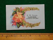 1870s-80s Paul W Crooks, Troy, NY Home Made Calico Wrappers Victorian Card F22