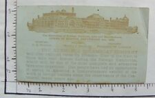VICT TRADE CARD; KENNEBUCK STEAMBOAT COMPANY; BOSTON; 1883 CENTENNIAL OF A 2055