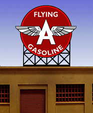 FLYING A GASOLINE ANIMATED NEON SIGN FOR HO/N SCALE-LIGHTS, FLASHES & MORE!!