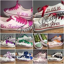 Personalised Customised  Any Colour Wedding Prom Crystal Pumps Shoes  Size 2-9
