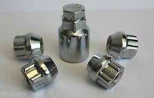 M12 X 1.5 OPEN END LOCKING ALLOY WHEEL LOCK NUTS FIT DODGE AVENGER CALIBER