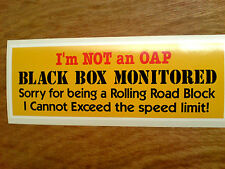 BLACK BOX MONITORED Young Driver Car Warning REVERSE WINDOW Sticker 1 off 180mm