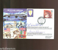 JS50/43/8 THE SICILIAN CAMPAIGN 1943  signed RAF WW2 comm. cover