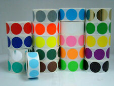 """1000 Labels Round 1/2"""" Inch YELLOW Color Coding Coded Inventory Sticker Dot"""