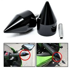 Spike Bar End Kawasaki ZX 750 900 650R 7R 9R Z1000 10R ZX11 ZZR1200 ZX14 Black