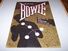David Bowie Concert Poster RARE! Serious Moonlight Tour Chicago 1983 Let's Dance