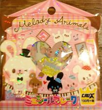 Kawaii CruX Melody Animals #2 Sticker Flakes Sack 52 Stickers