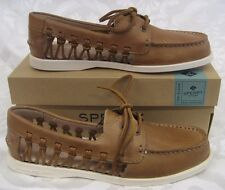 NEW WOMEN SPERRY TOPSIDER LEATHER BOAT SHOE A/O HAVEN SAHARA WOMEN SIZE 10