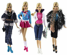 New 4 PCS Fashion Handmade Evening Clothes/Outfit For Barbie Doll z30