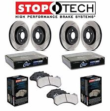 Audi A3 VW Golf GTI Front & Rear Slotted Brake Discs Street Pads KIT StopTech